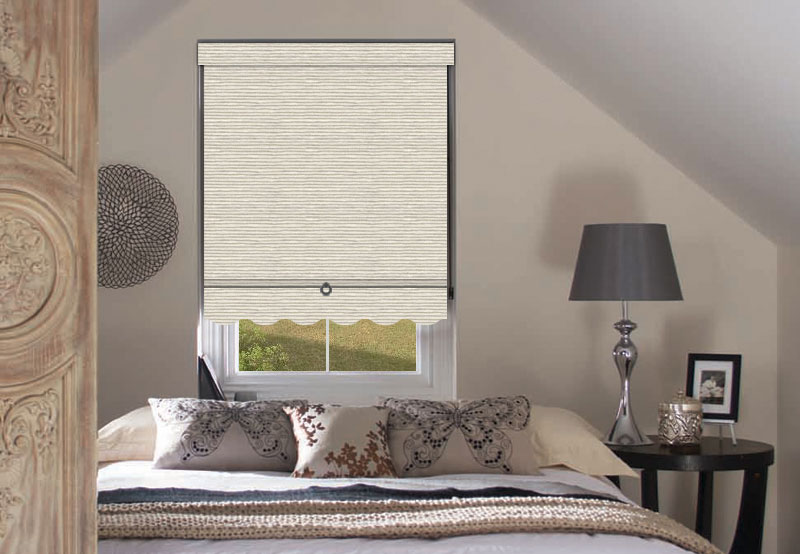 Scallop Trim Apollo Roller Blinds