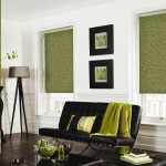 Green Roller Blinds with pattern