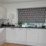 Grey Roller Blinds in Kitchen