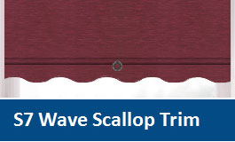 Roller Blinds Wave Scallop Trim