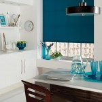 Cyan Blue Roller Blinds