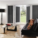 Lined White and Black Roller Blinds