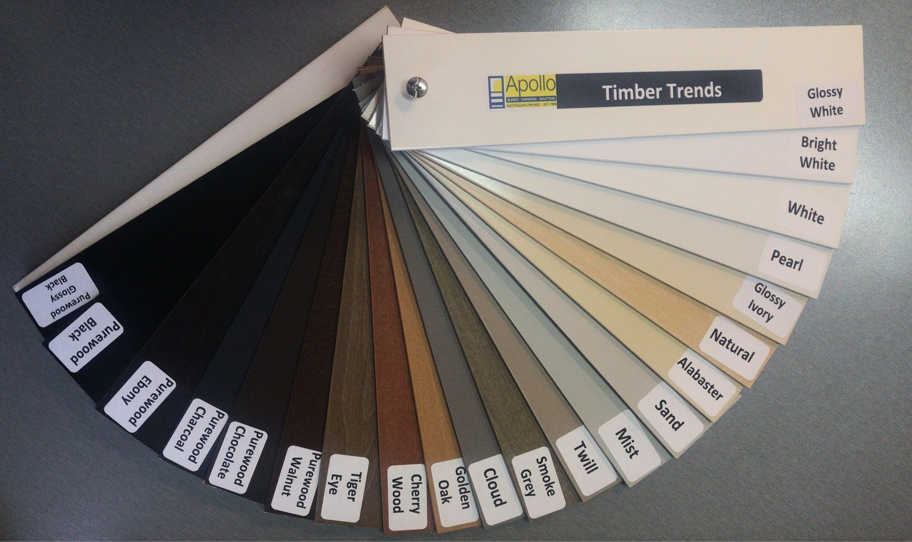 Timber Venetian Blinds Range