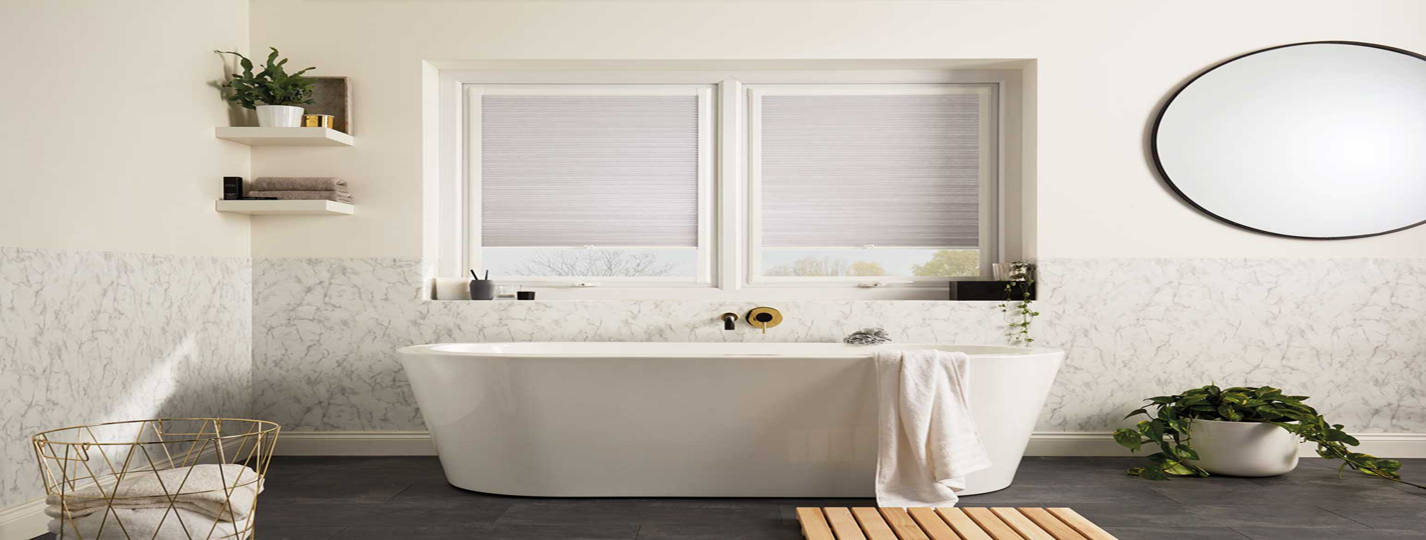 Blinds bathroom